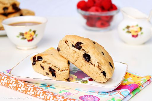 Peanut butter and chocolate scones