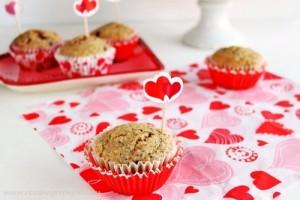 Pomegranate chia seed muffins