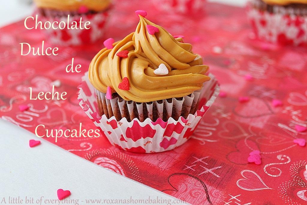 chocolate dulce de leche cupcakes | roxanashomebaking.com