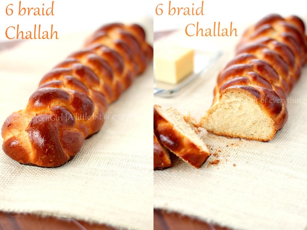 6 braid Challah bread recipe from Roxanashomebaking.com