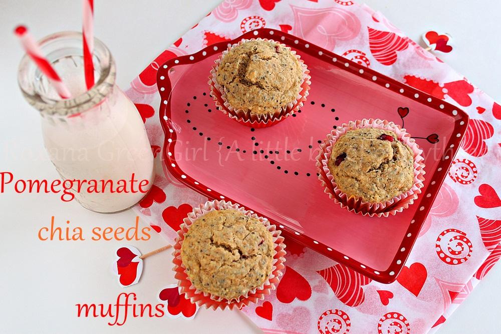 pomegranate chia seeds muffins | roxanashomebaking.com