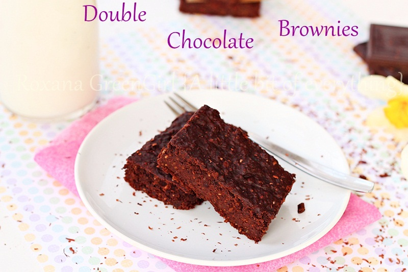 A fast, easy recipe for gluten free vegan double chocolate black beans brownies using rolled oats.