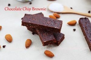 Homemade Chocolate Chip Brownie Bars