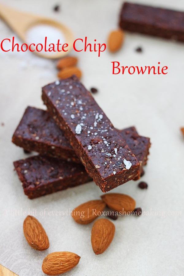 Gluten Free Chocolate Chip Brownie Bars