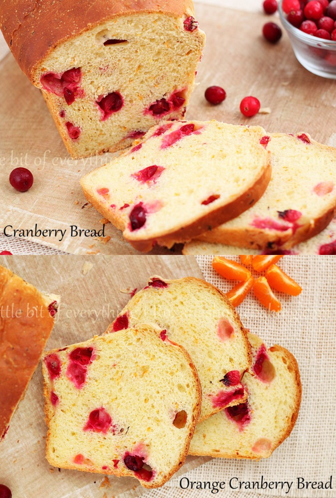 This Orange Cranberry Bread combines the sweet and refreshing citrus flavor of freshly squeezed orange juice and orange zest with the tartness of frozen cranberries, sweetened with just a bit with honey