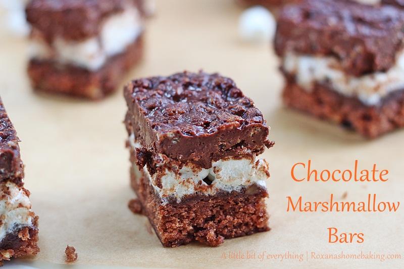 Chocolate Marshmallow Bars   roxanashomebaking.com/