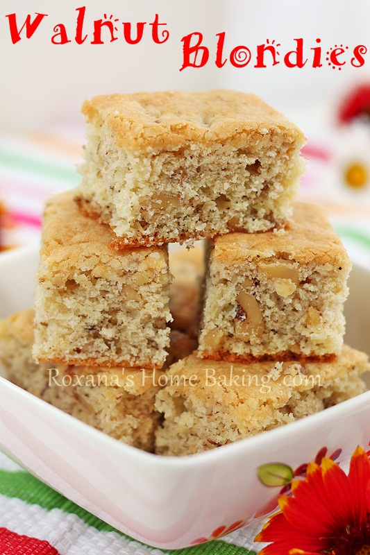 walnut blondies