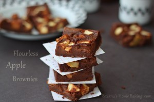 Flourless Apple Brownies