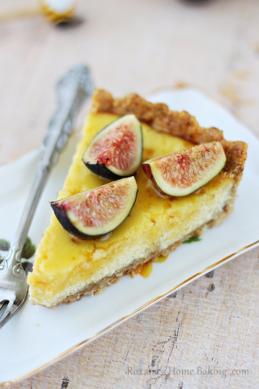 ricotta tart with honey and figs | Roxanashomebaking.com