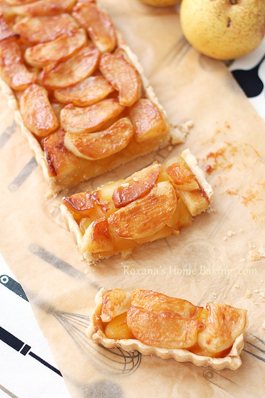 Apple Dulce de Leche Tart | Roxanashomebaking.com