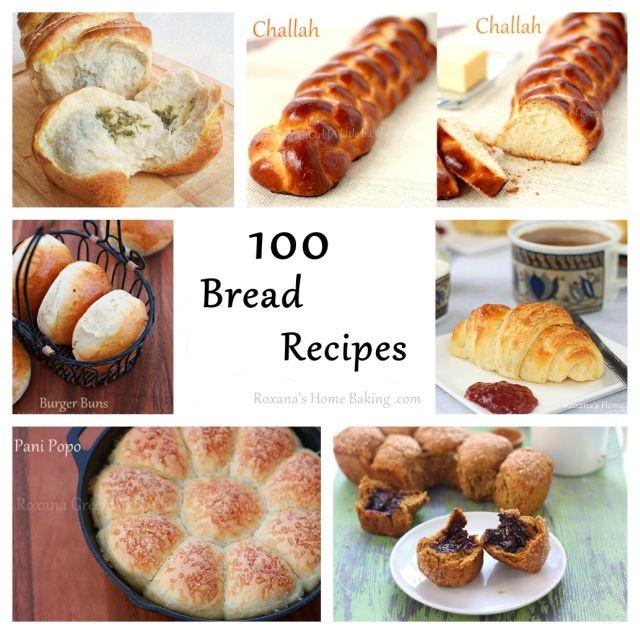 100 bread recipes | Roxanashomebaking.com