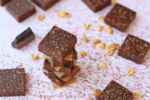 Homemade peanut butter chocolate bars