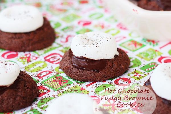 Hot Chocolate Fudgy Brownie Cookies