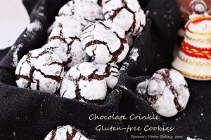 Chocolate crinkle cookies #25recipestoXmas