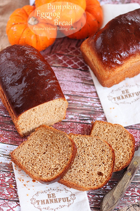 Pumpkin eggnog bread from Roxanashomebaking.com