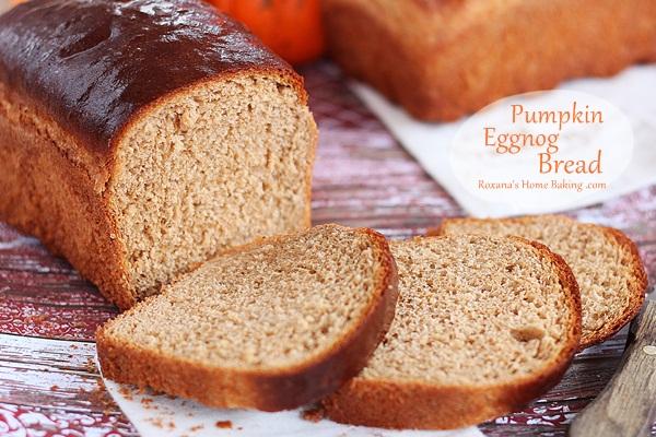 Pumpkin Eggnog Bread
