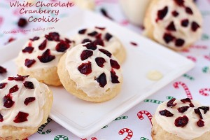 White chocolate cranberry cookies #25recipestoXmas