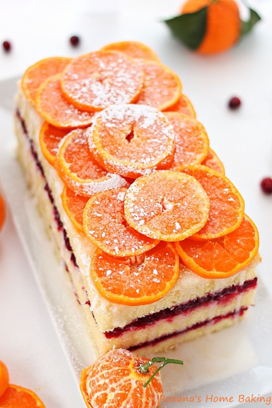 Citrus Cranberry Layered Cake Recipe Roxanashomebaking 2