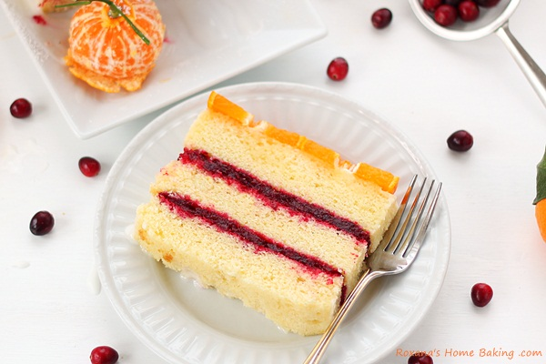 Citrus cranberry layer cake