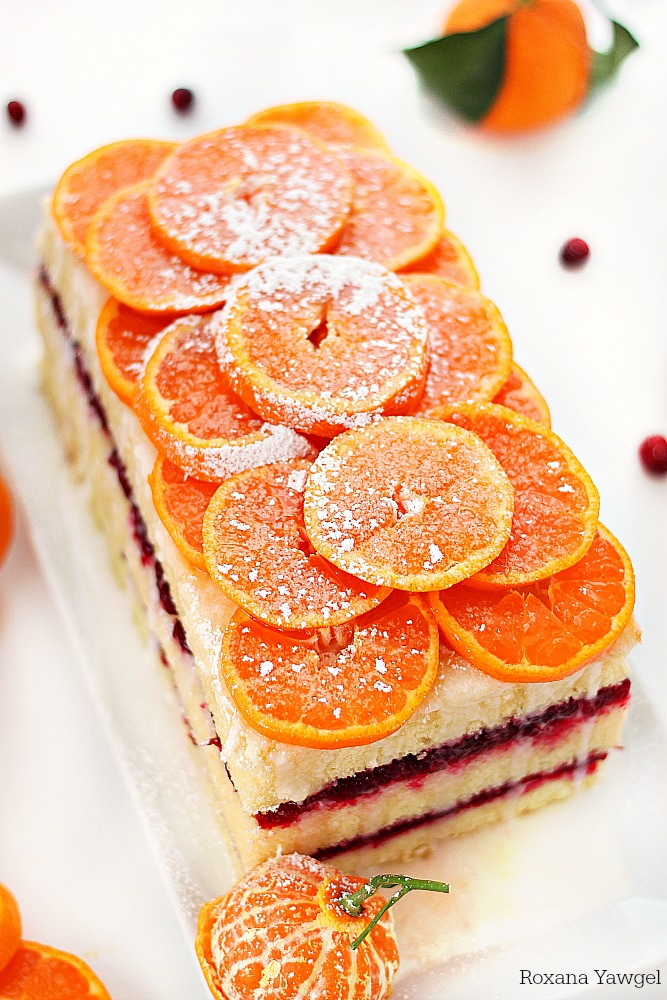 Combining the refreshing flavors of the citrus with a tart cranberry sauce, this citrus cranberry cake is a delicious twist to the classic holiday desserts!