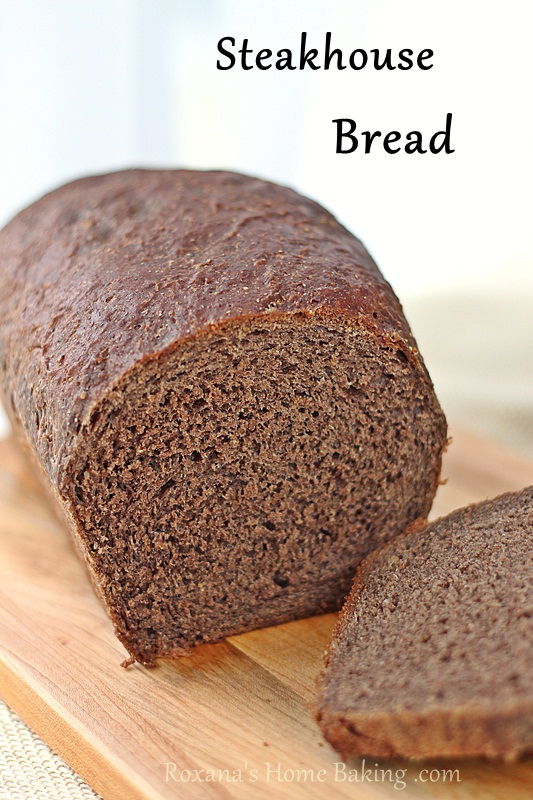 Steakhouse bread recipe from Roxanashomebaking.com Light, soft, you can taste the sweetness of the rye flour with nutty touches and coffee aroma