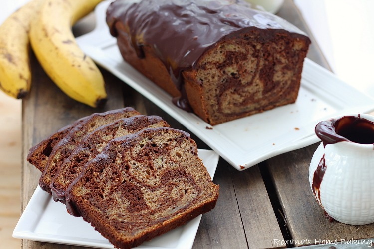 Chocolate marble banana bread recipe