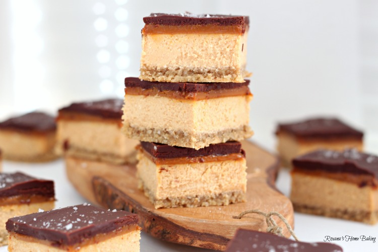 Dulce de leche chocolate cheesecake bars – rich creamy caramel-y ...