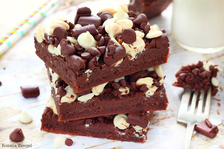 Chocolate chocolate chip bars recipe