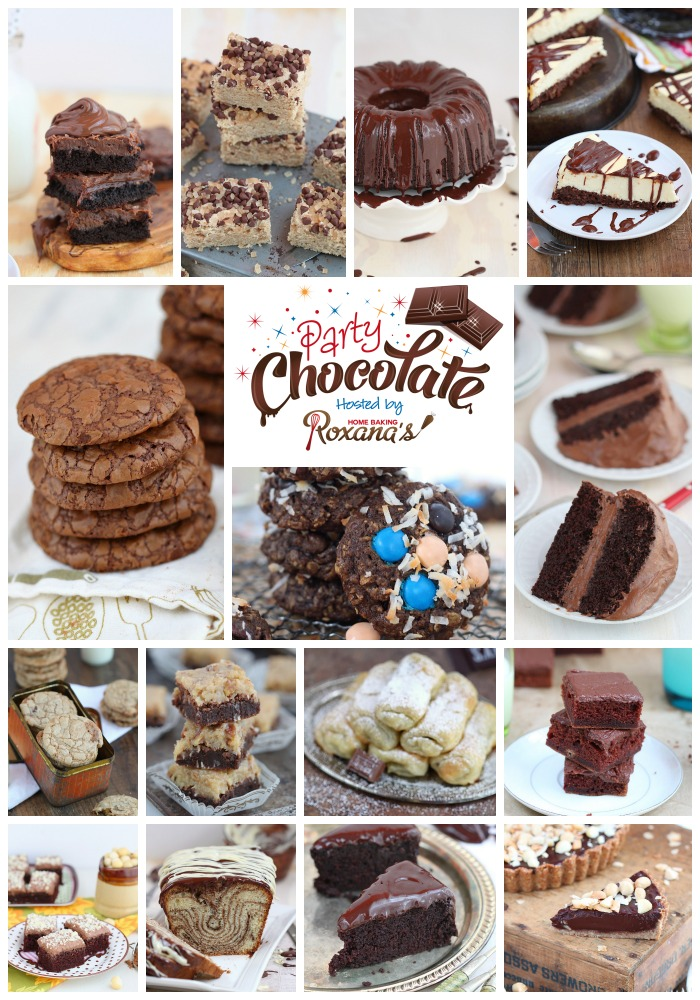 15 Favorite chocolate desserts shared at Roxanashomebaking.com Cookies, cakes and bars - there's something for everyone! Bring your favorite and you could win some amazing prizes!
