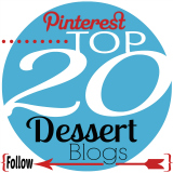 Follow TOP 20 Dessert Bloggers on Pinterest 160