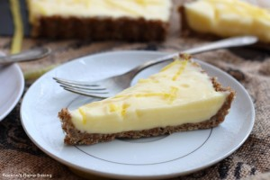Light lemon curd tart