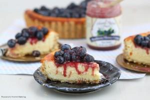 Berry goat cheese cheesecake