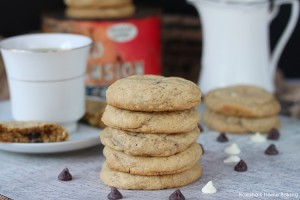 Coffee and cream chocolate chip cookies