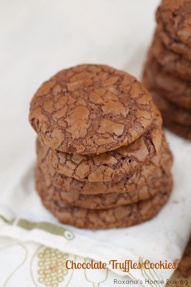 Fudge like cookie, these chocolate truffle cookies have triple the pleasure