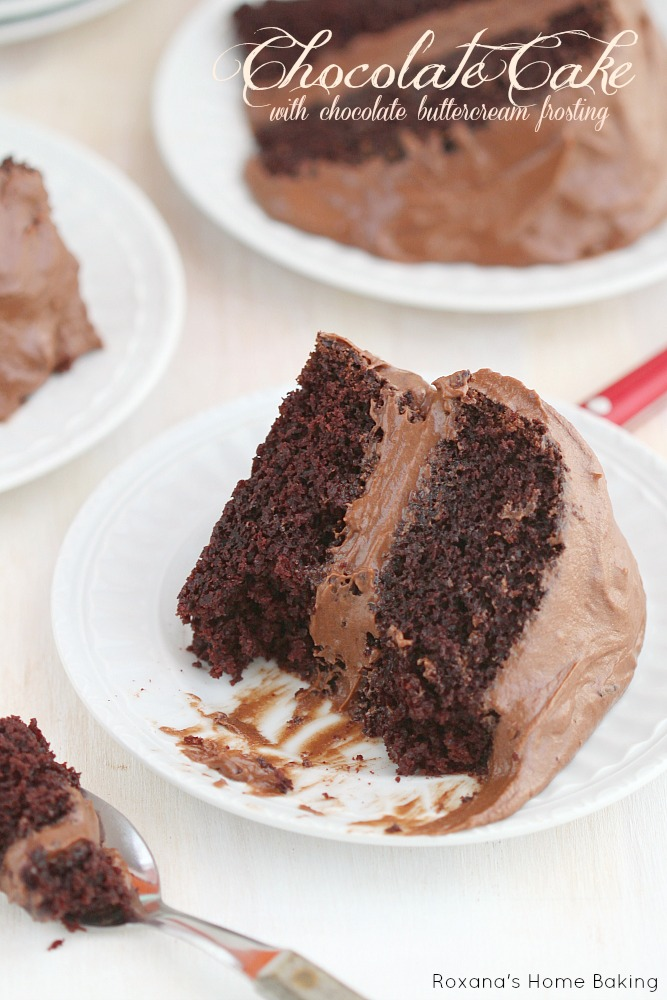 chocolate buttercream frosting, this chocolate cake with chocolate ...