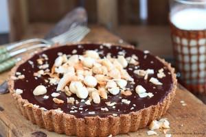 Chocolate ganache coconut tart