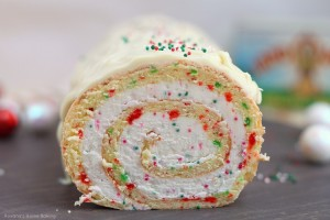 Christmas vanilla roll cake