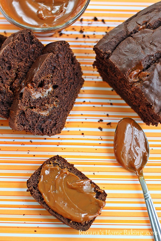 chocolate duce de leche bread