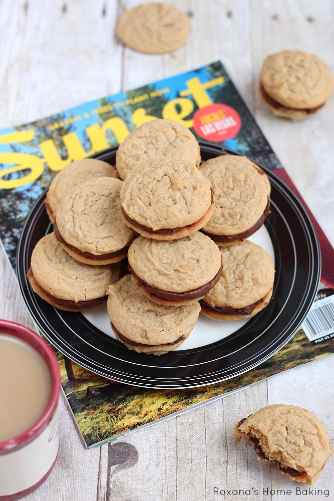 Fudge filled irresistible peanut butter cookies