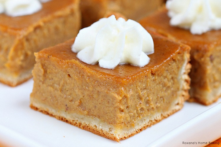 Pumpkin pie bars recipe