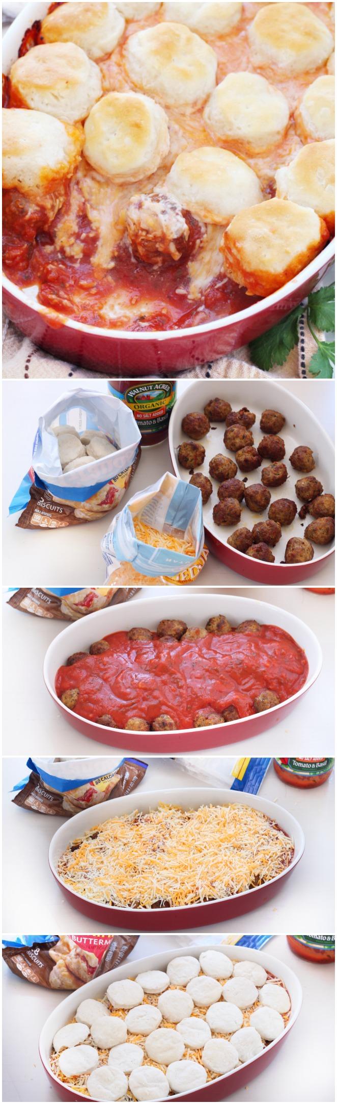 Upside down meatball casserole