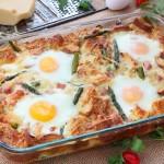 caramelized onion asparagus egg strata recipe
