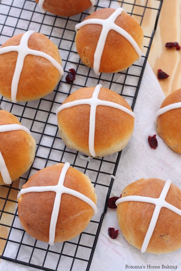 Soft and with a touch of spices and packed with dried fruit, hot cross buns are usually a Good Friday treat. Skip the cross marked on top and enjoy these buns year round