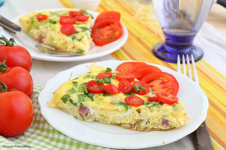 Potato crusted quiche recipe