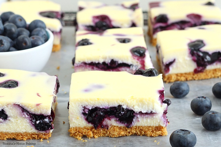 Blueberry pie cheesecake bars recipe