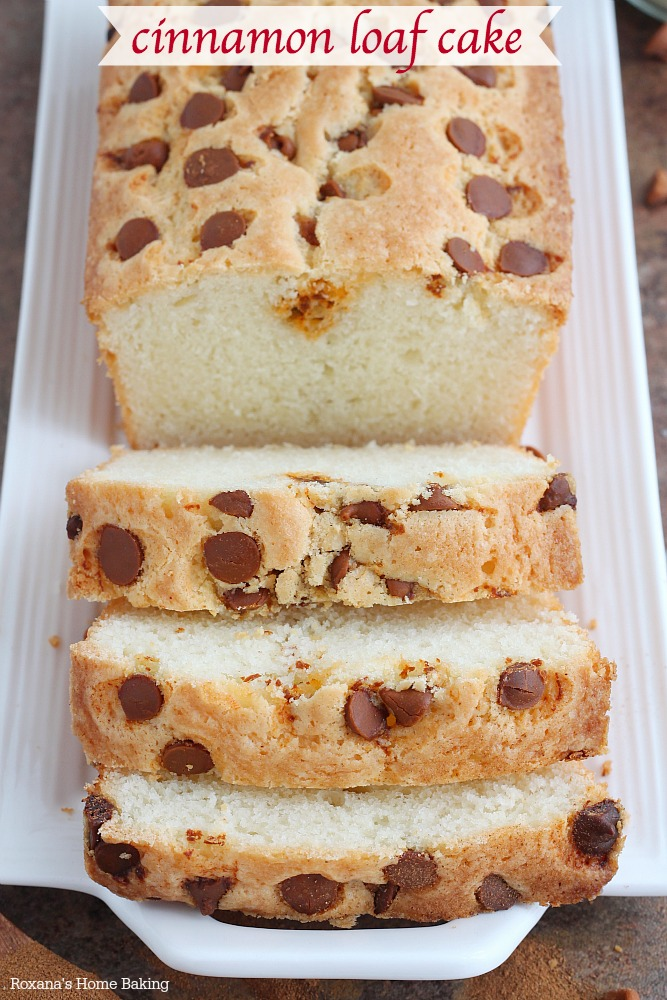 Sweet, buttery and bursting with cinnamon flavors, this cinnamon loaf cake if fabulous with a cup of coffee or tea in the afternoon!