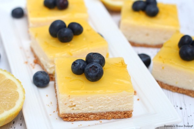 lemon cheesecake bars recipe