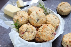Rosemary, potato and bacon biscuits