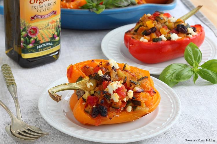 Veggie stuffed bell peppers recipe