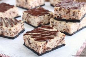 Chocolate ricotta cheesecake bars